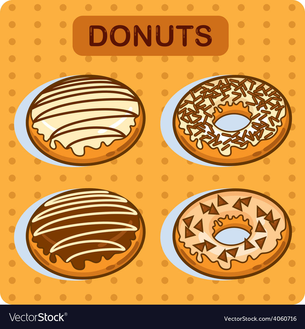 Tasty donuts vector | Price: 1 Credit (USD $1)
