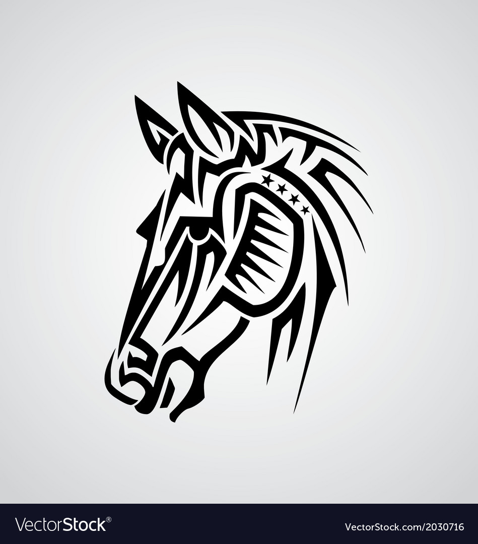 Tribal horse vector | Price: 1 Credit (USD $1)