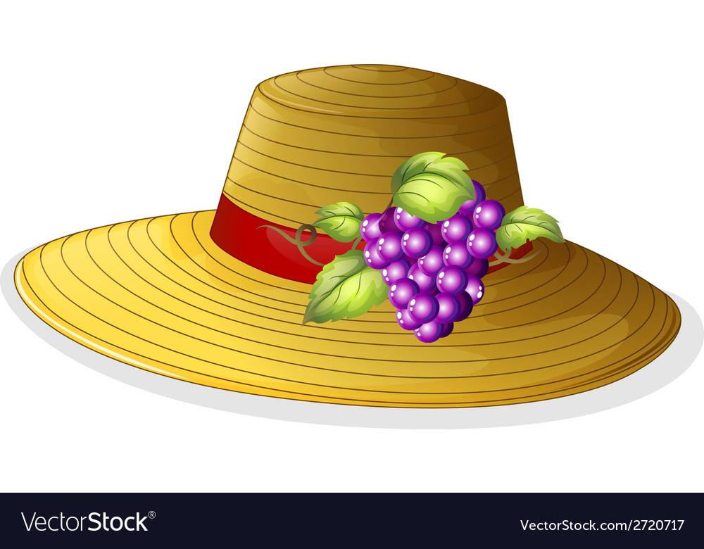 A fashionable hat with a fruit vector | Price: 1 Credit (USD $1)