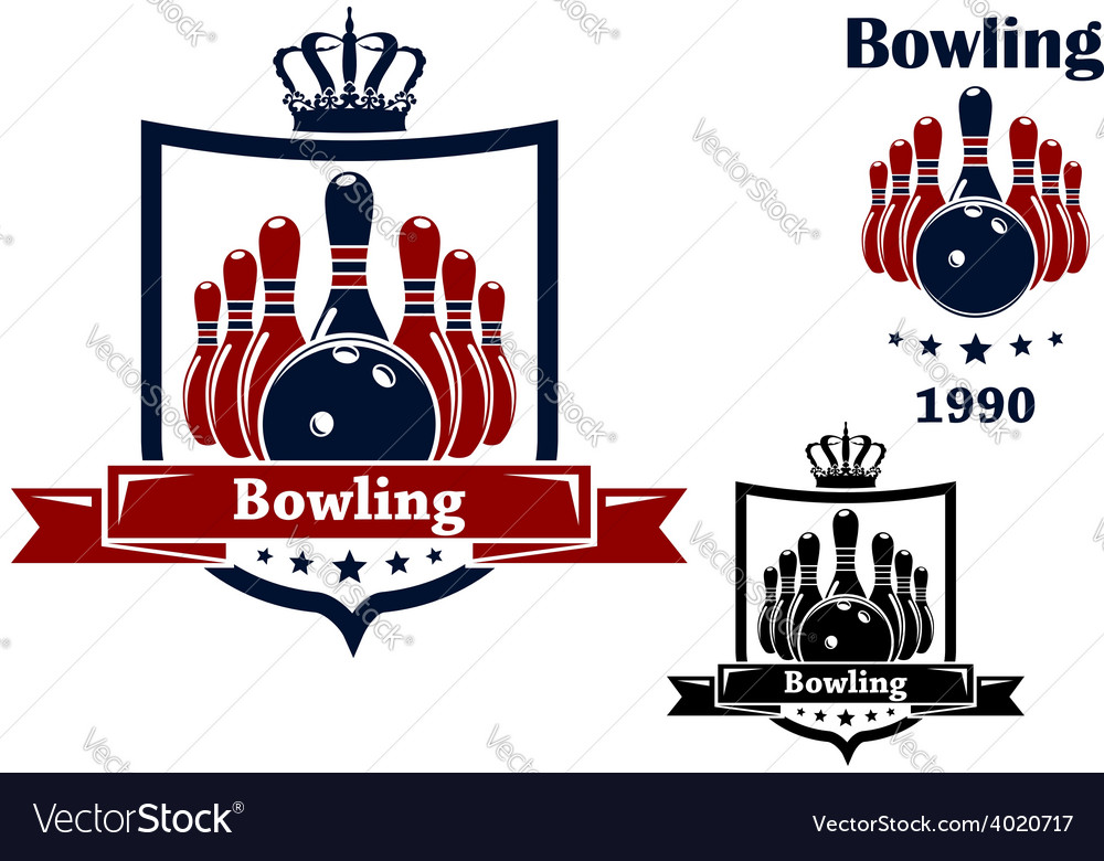 Bowling club emblem or symbol vector | Price: 1 Credit (USD $1)