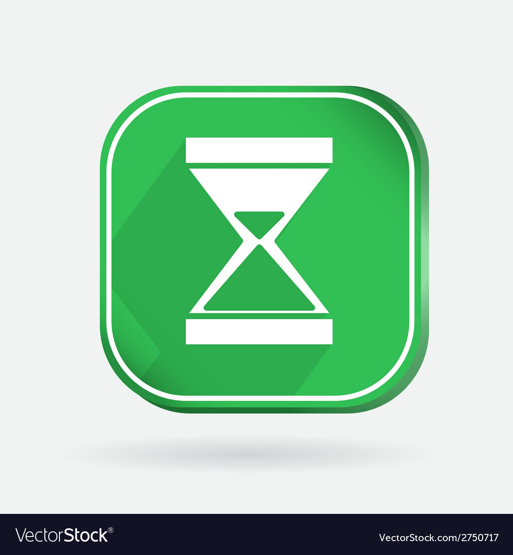 Color icon with shadow hourglass waiting vector | Price: 1 Credit (USD $1)