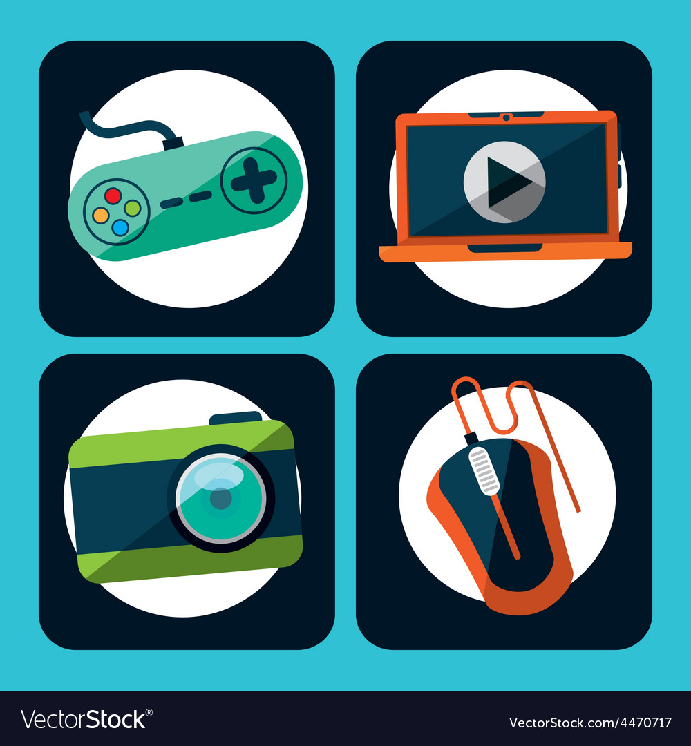 Gadgets icons vector | Price: 1 Credit (USD $1)