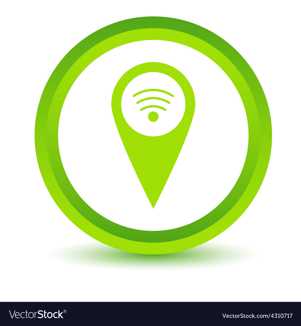 Green wi-fi pointer icon vector | Price: 1 Credit (USD $1)