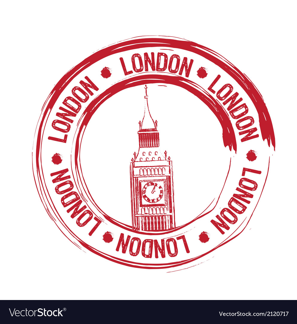 London stamp vector | Price: 1 Credit (USD $1)