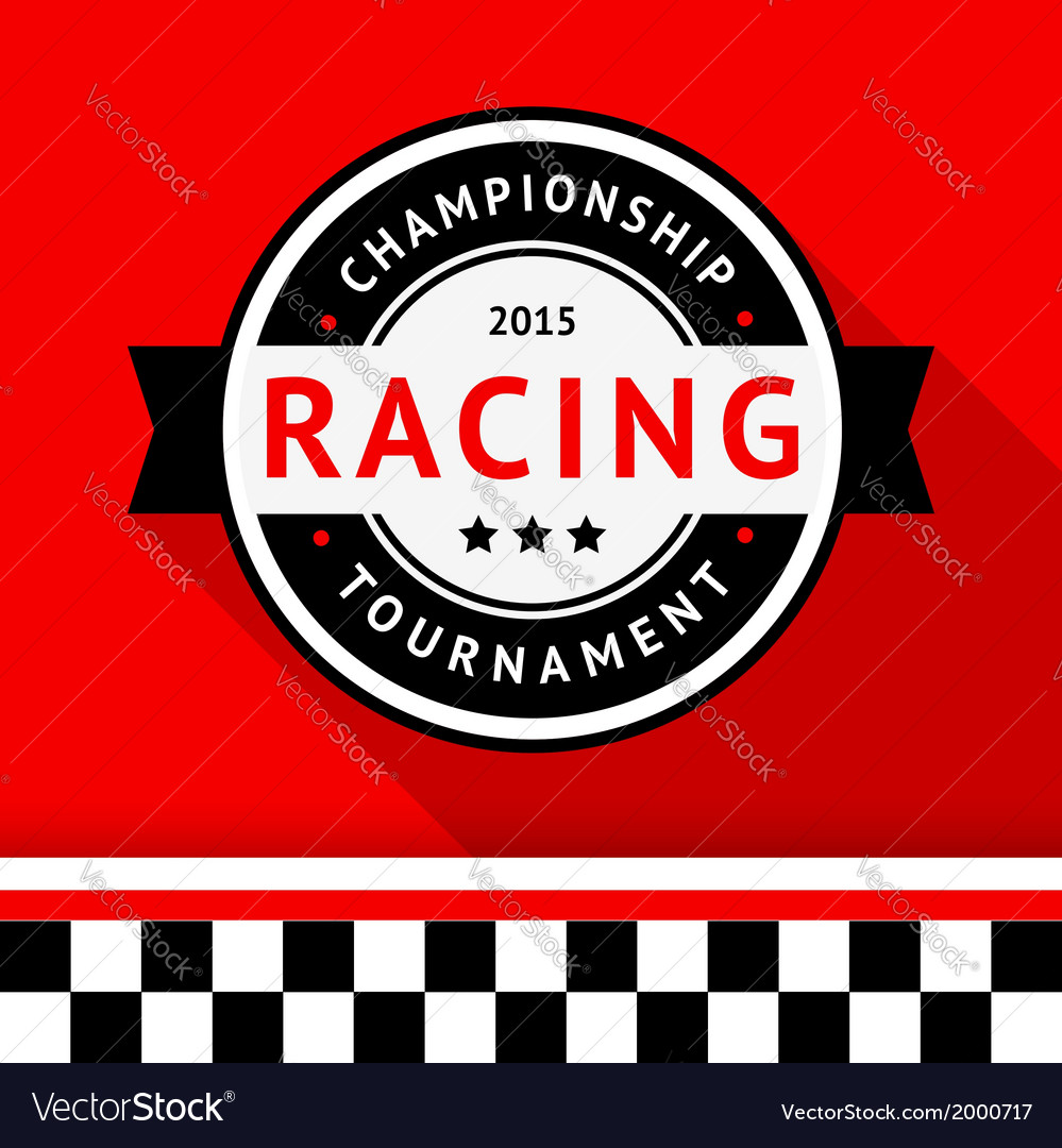 Racing badge 09 vector | Price: 1 Credit (USD $1)