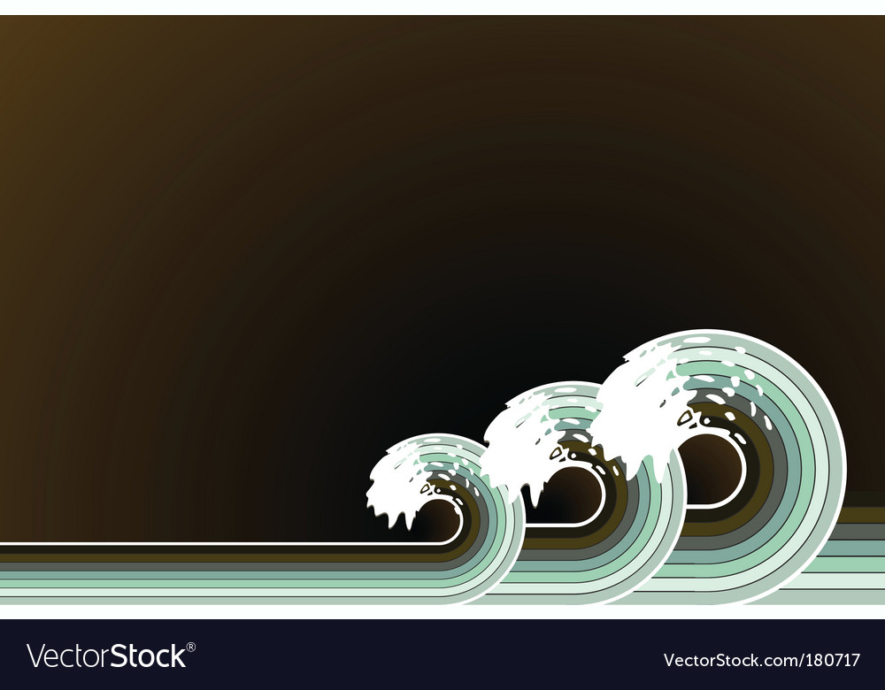 Retro splashing waves vector | Price: 1 Credit (USD $1)