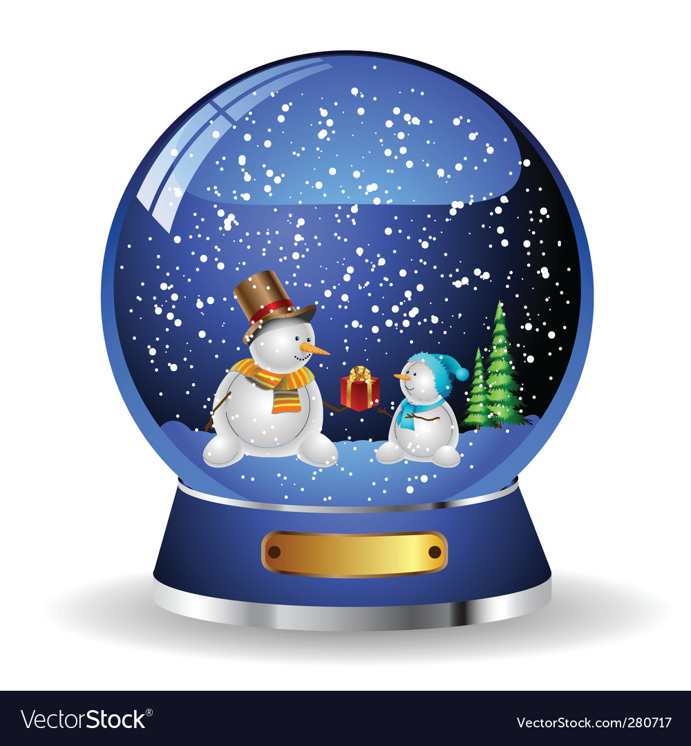 Snow globe vector | Price: 1 Credit (USD $1)
