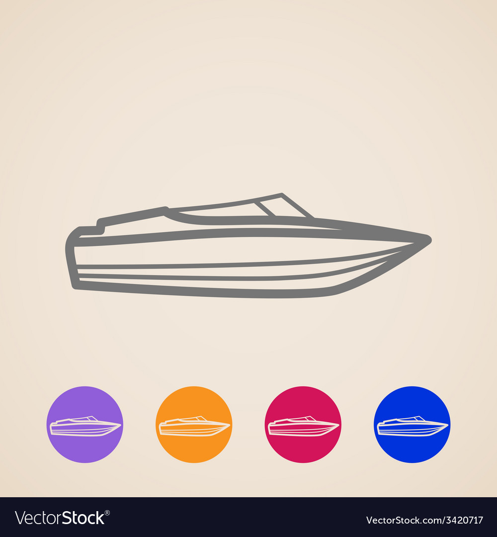 Yacht icons vector | Price: 1 Credit (USD $1)
