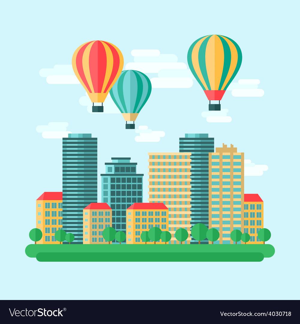 Aircraft ballon icon flat vector | Price: 1 Credit (USD $1)