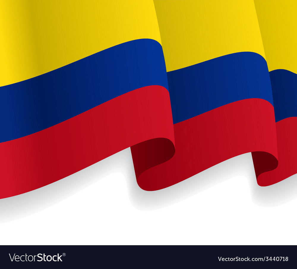 Background with waving colombian flag vector | Price: 1 Credit (USD $1)