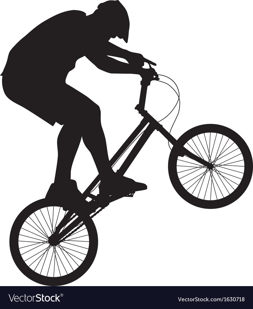 Biker silhouette vector | Price: 1 Credit (USD $1)