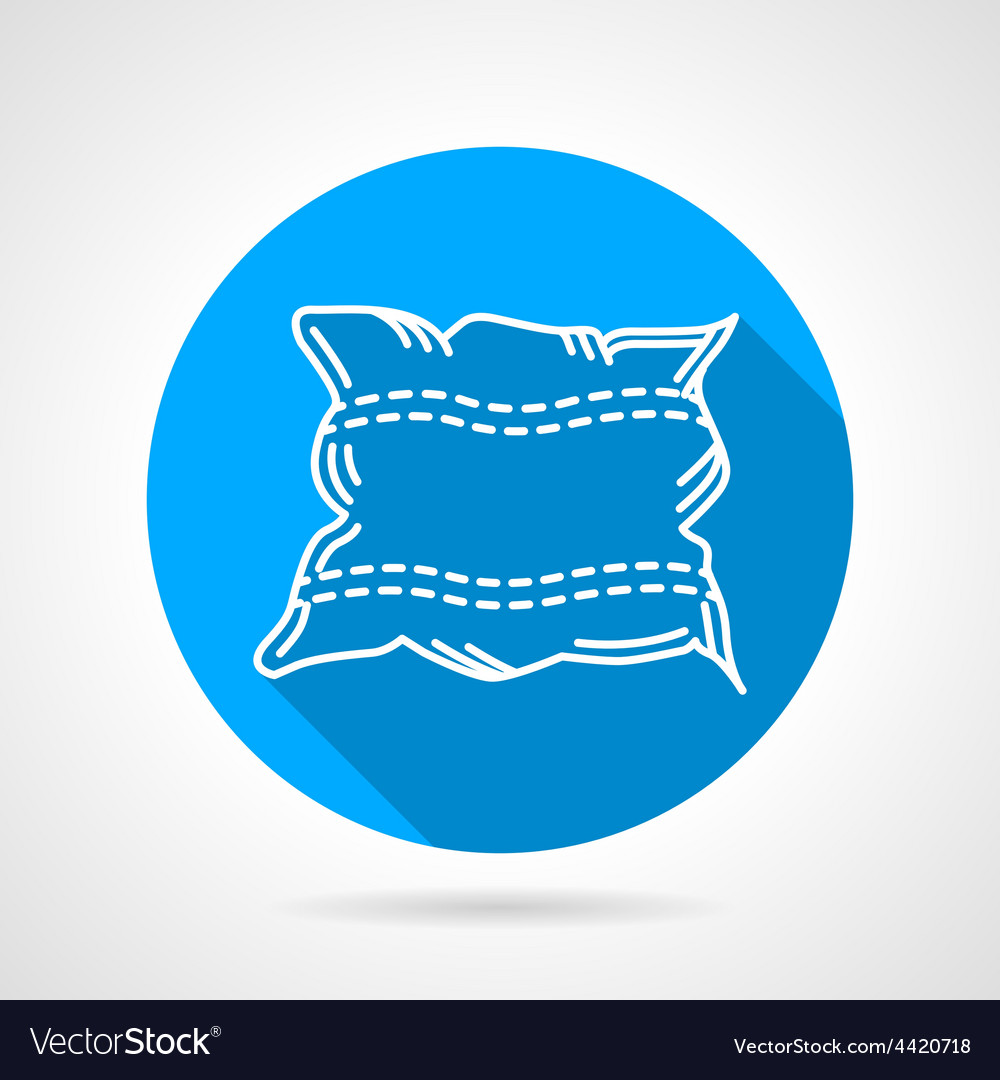Flat round icon for pillow vector | Price: 1 Credit (USD $1)