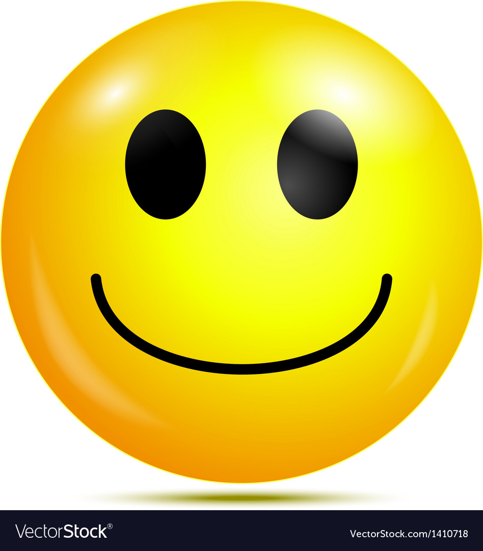 Happy smiley emoticon vector | Price: 1 Credit (USD $1)