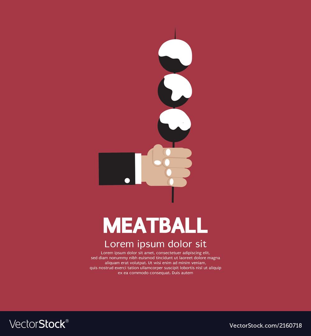 Meatball in skewer vector | Price: 1 Credit (USD $1)