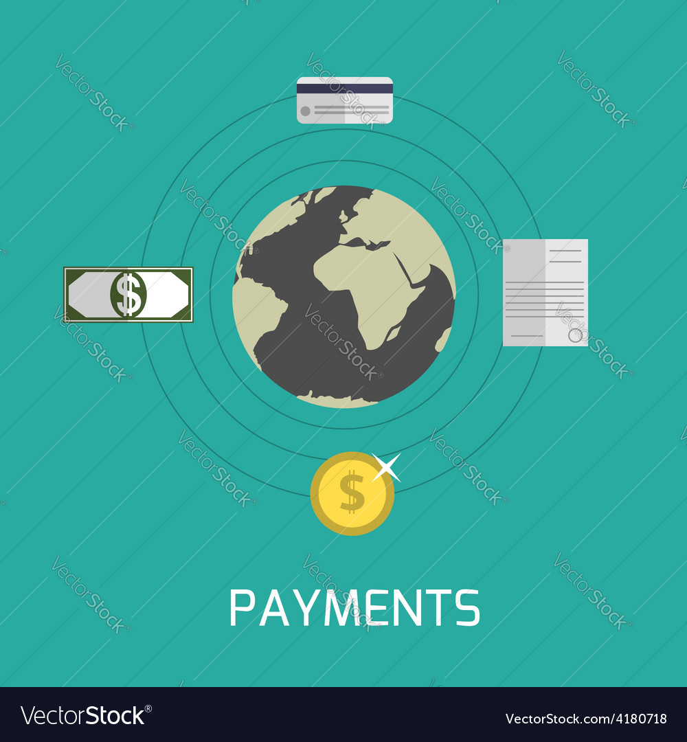Payments vector | Price: 1 Credit (USD $1)