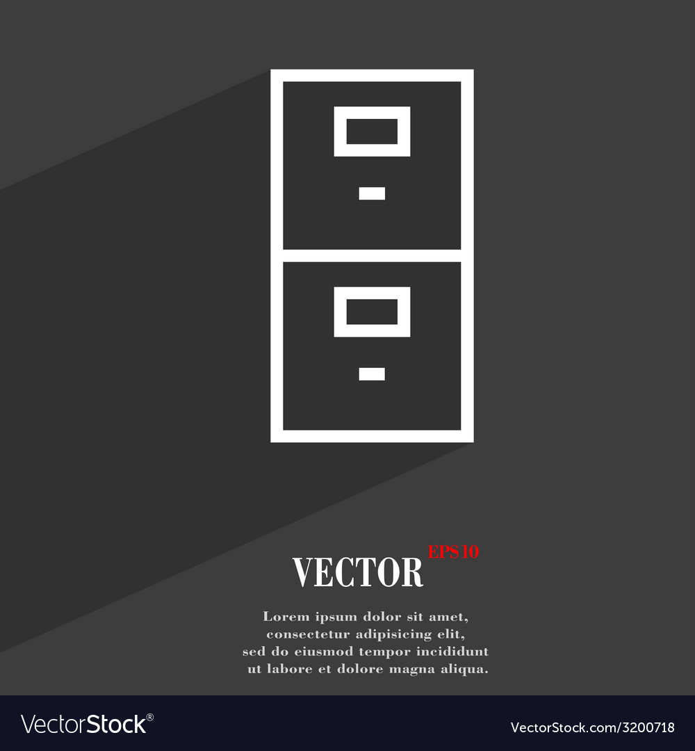 Safe icon symbol flat modern web design with long vector | Price: 1 Credit (USD $1)