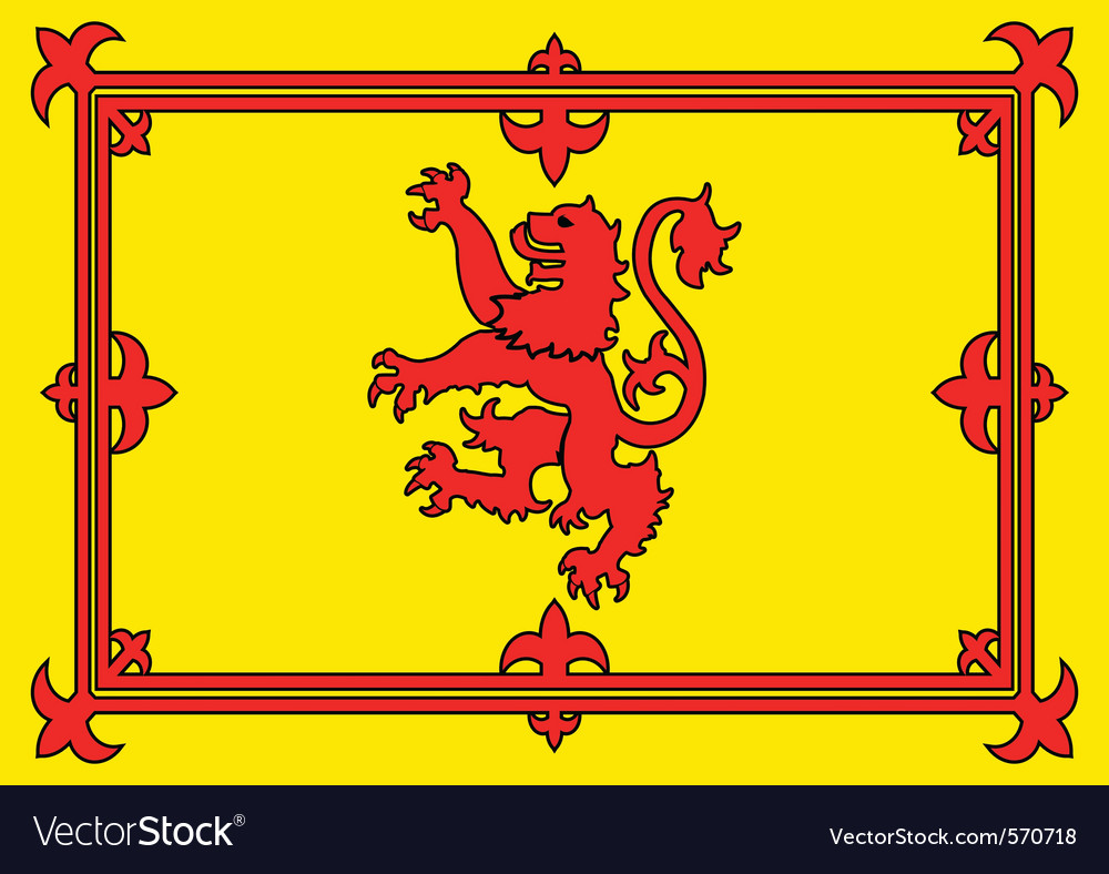 Scottish lion flag vector | Price: 1 Credit (USD $1)