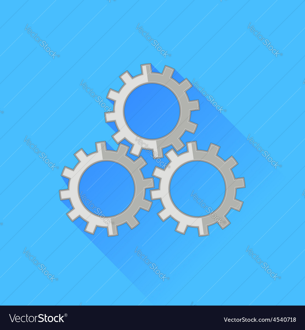 Set of gears icon vector | Price: 1 Credit (USD $1)