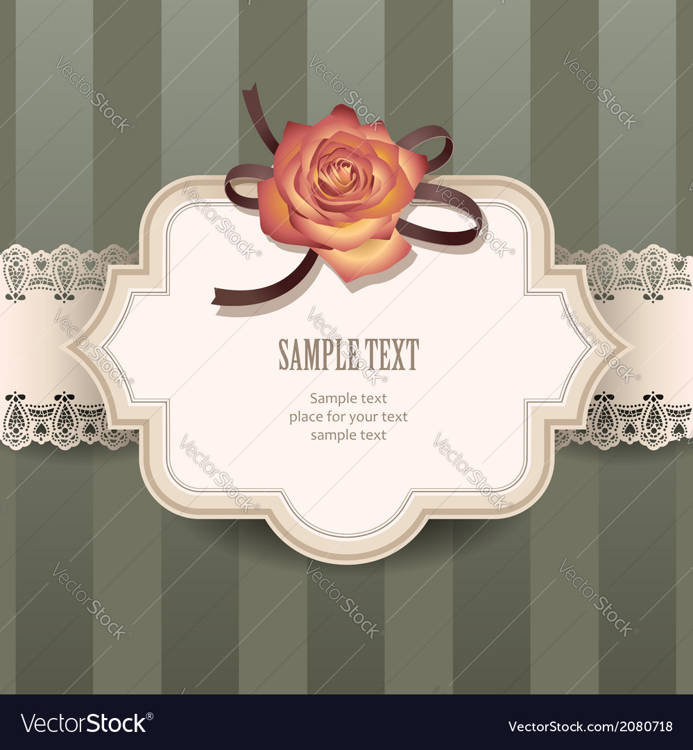 Vintage rose lace vector | Price: 1 Credit (USD $1)