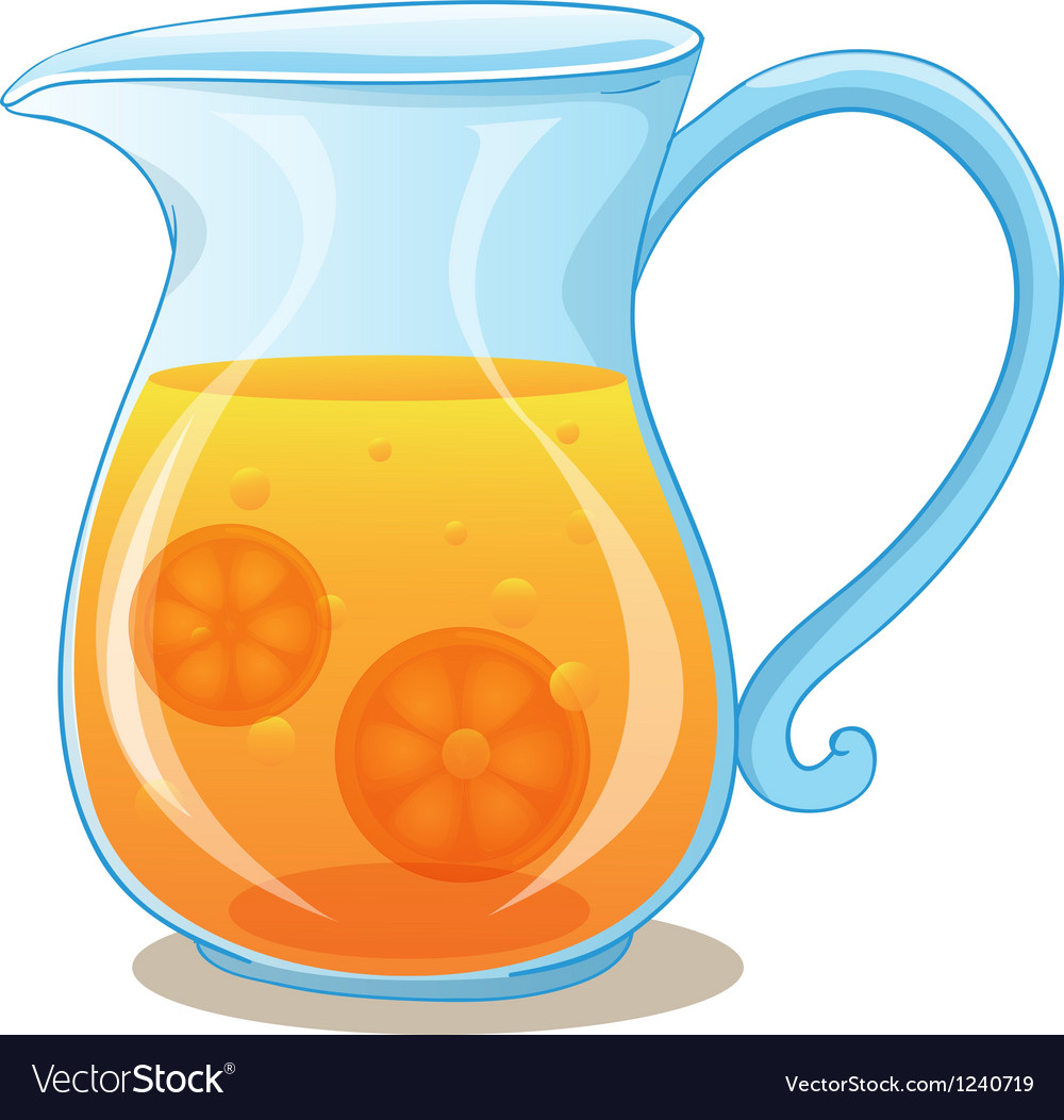 A pitcher of orange juice vector | Price: 1 Credit (USD $1)