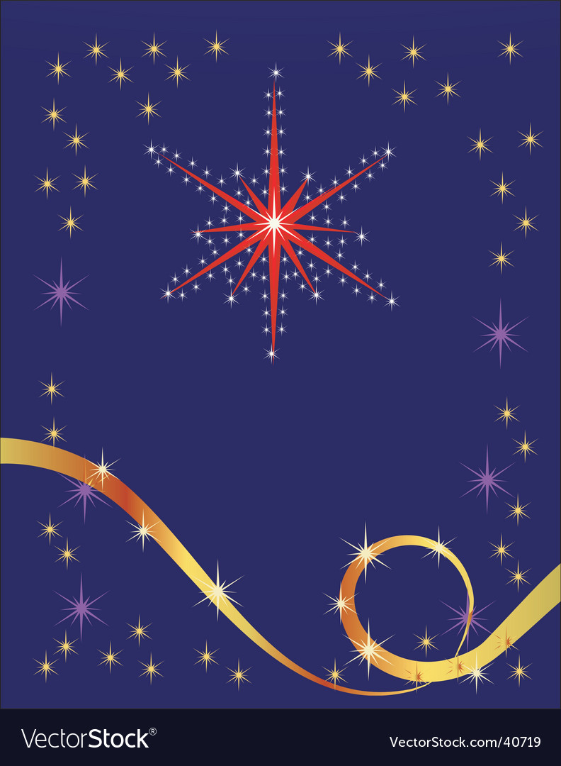 Abstract holiday background with star vector | Price: 1 Credit (USD $1)