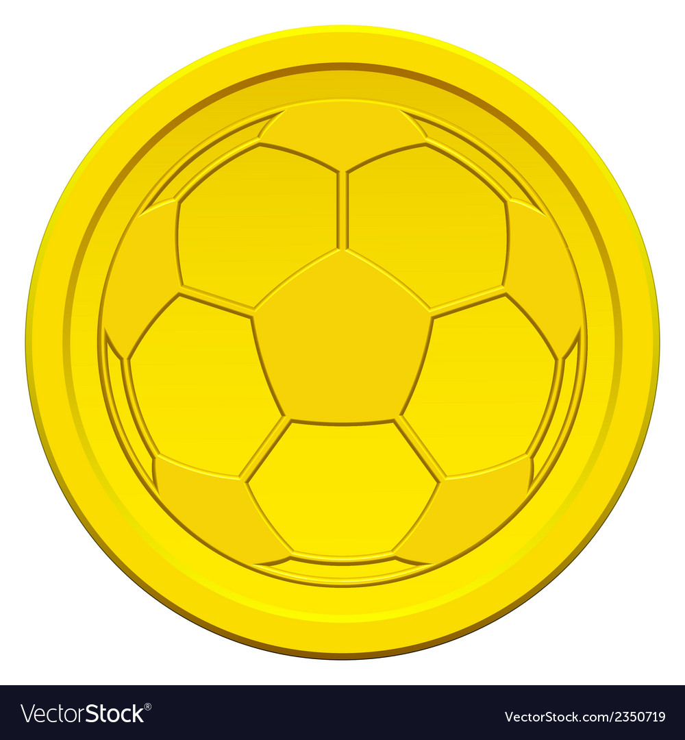 Ball on coin vector | Price: 1 Credit (USD $1)