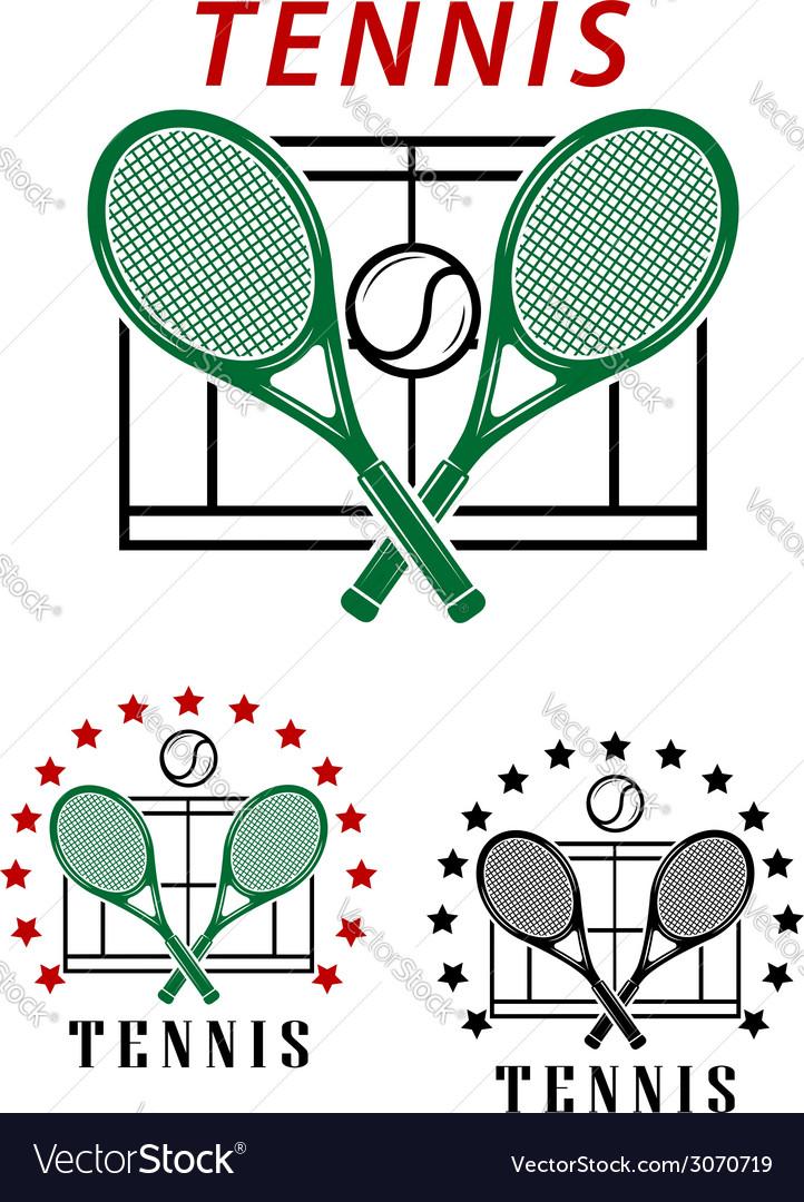 Big tennis emblems or badges vector | Price: 1 Credit (USD $1)