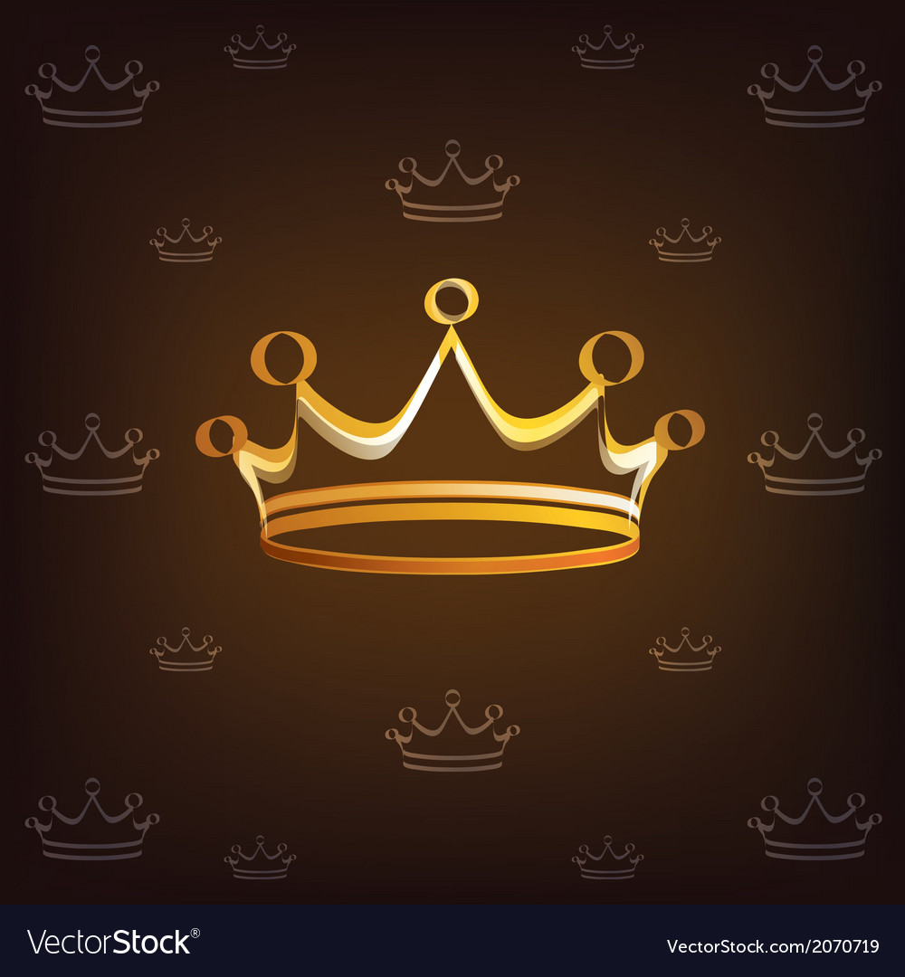 Crown stylized symbol vector | Price: 1 Credit (USD $1)