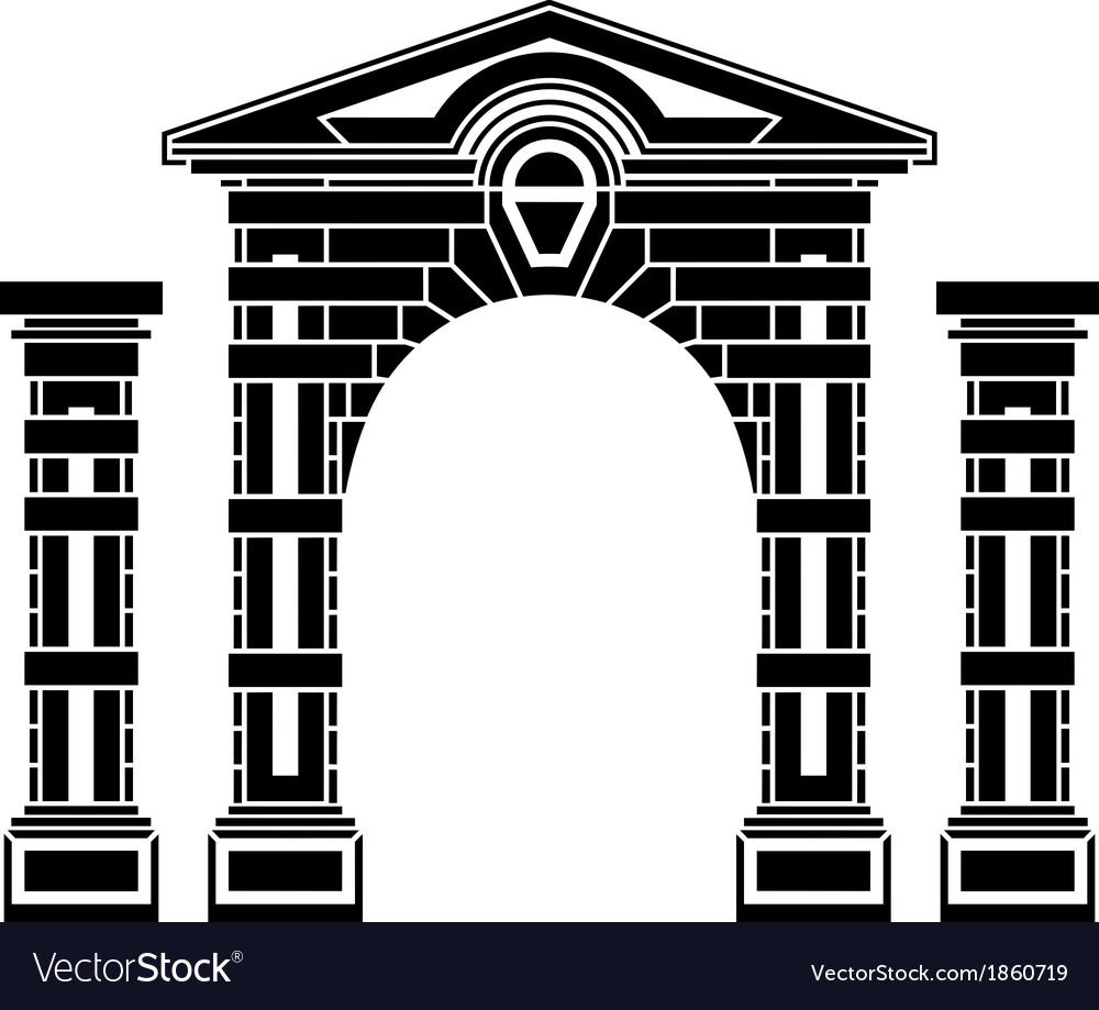 Fantasy arch and columns vector | Price: 1 Credit (USD $1)