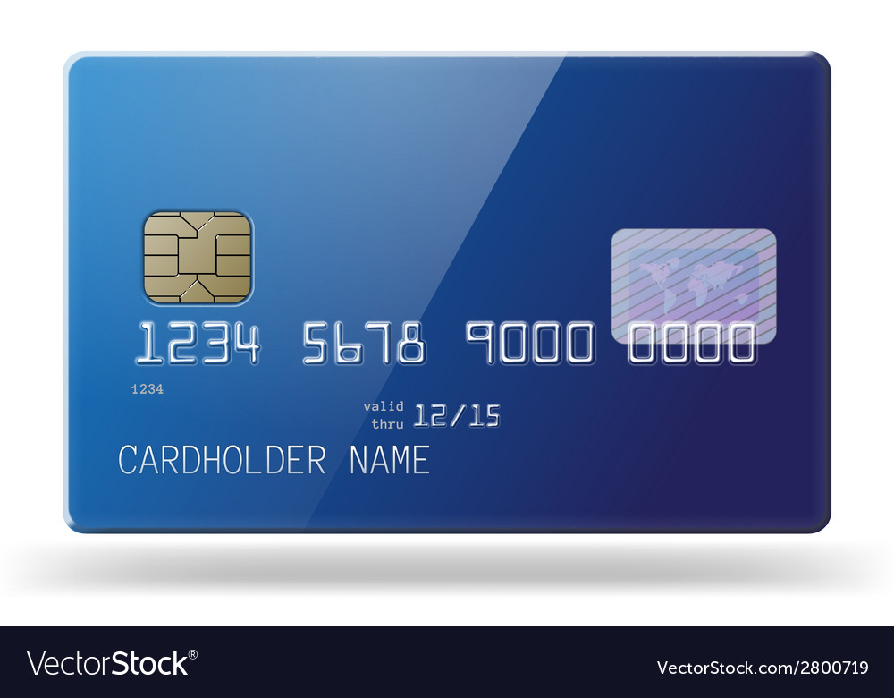 Glossy credit card vector | Price: 1 Credit (USD $1)