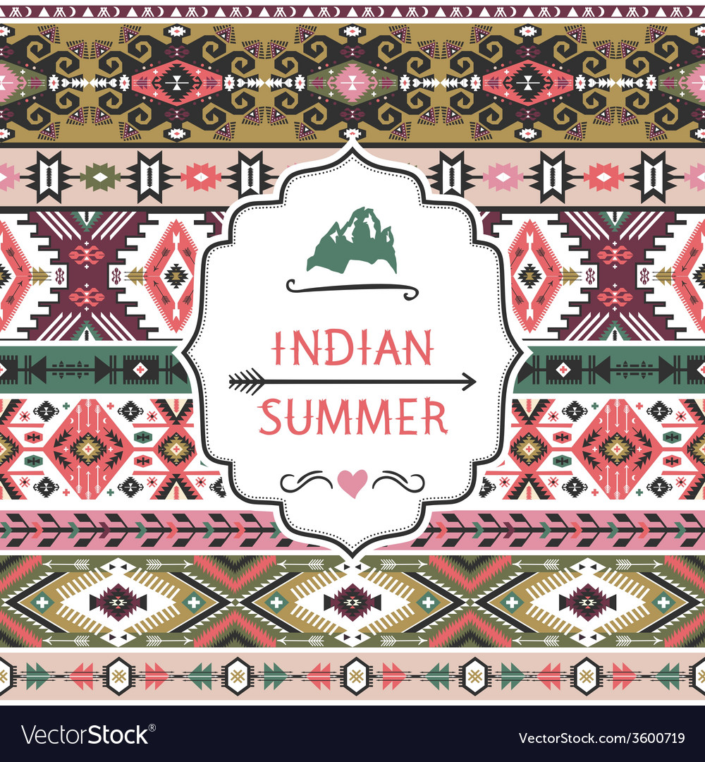 Navajo seamless colorful tribal pattern vector | Price: 1 Credit (USD $1)