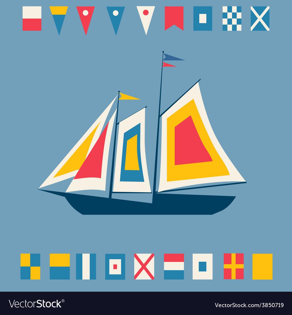 Sailing vessel vector | Price: 1 Credit (USD $1)