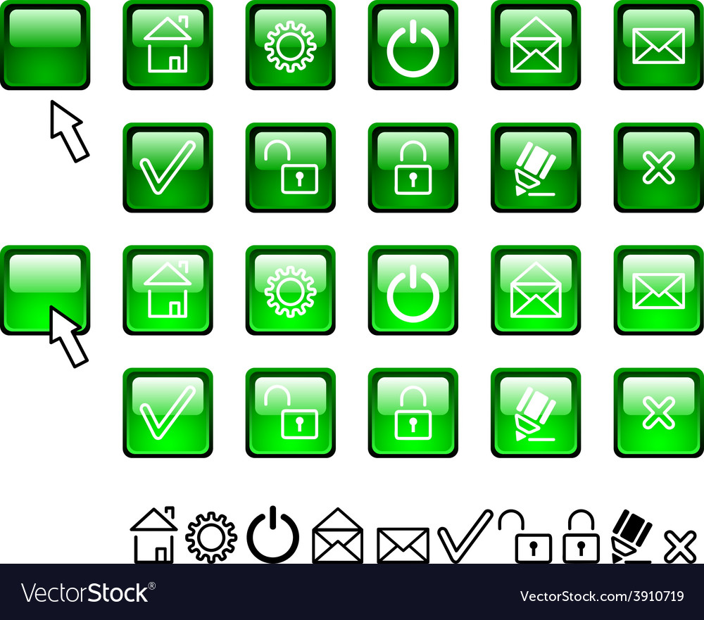 Set of web icons vector | Price: 1 Credit (USD $1)