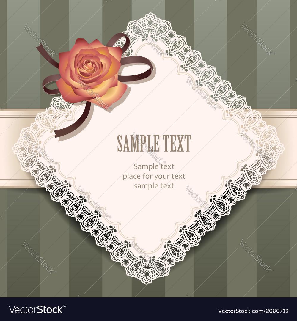 Vintage rose rhombus vector | Price: 1 Credit (USD $1)