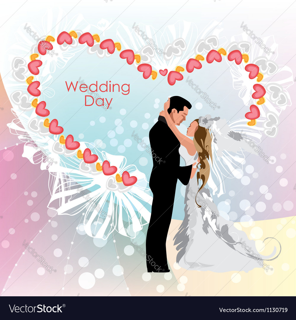 Wedding day bride and groom vector | Price: 1 Credit (USD $1)