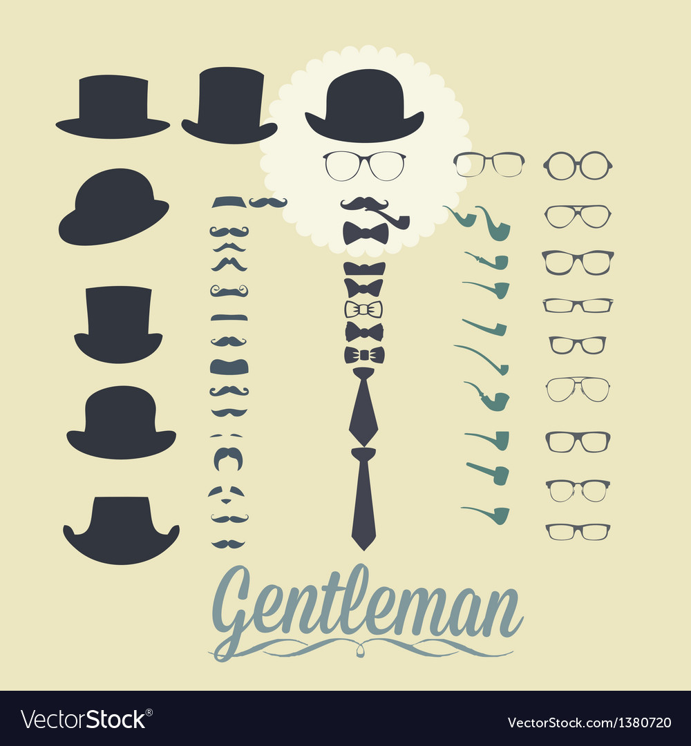 Accessories for gentleman vector | Price: 1 Credit (USD $1)