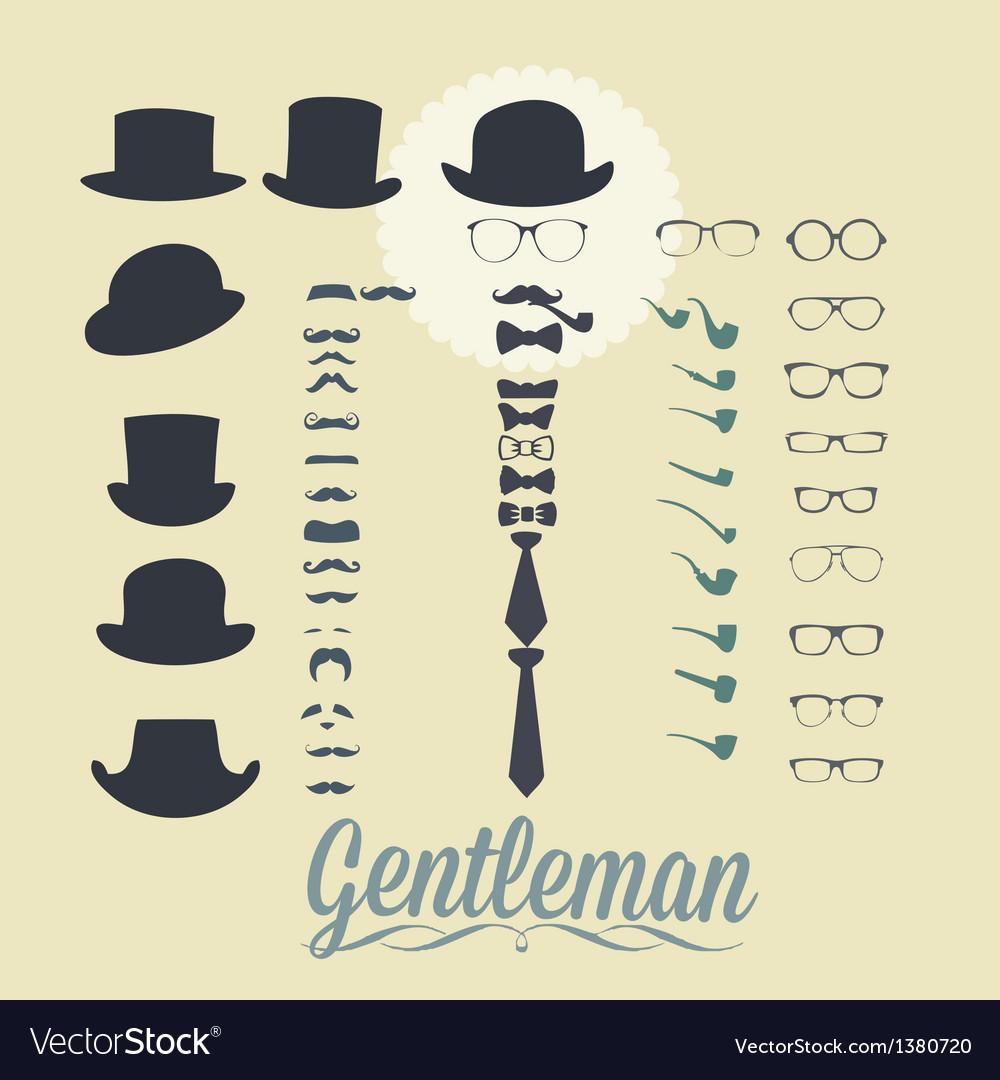 Accessories for gentleman vector | Price: 1 Credit (USD $1)
