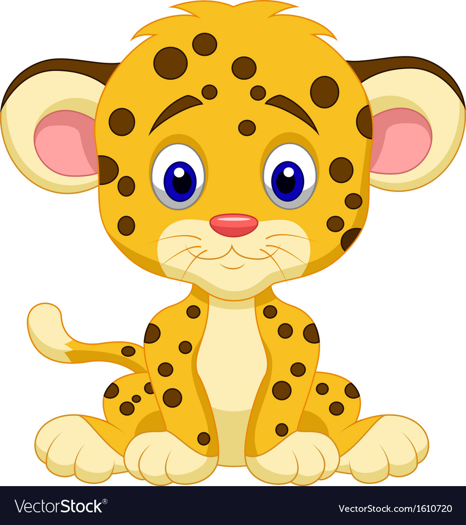 Baby leopard cartoon vector | Price: 1 Credit (USD $1)