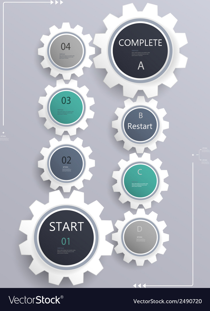 Gears infographics vector | Price: 1 Credit (USD $1)