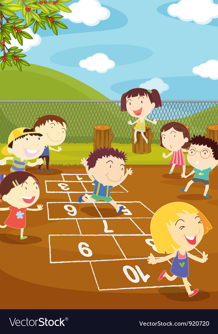 Hopscotch vector | Price: 3 Credit (USD $3)