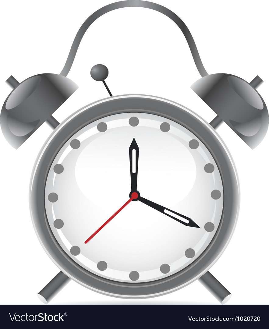 Isolated alarm clock on white background vector   Price: 1 Credit (USD $1)