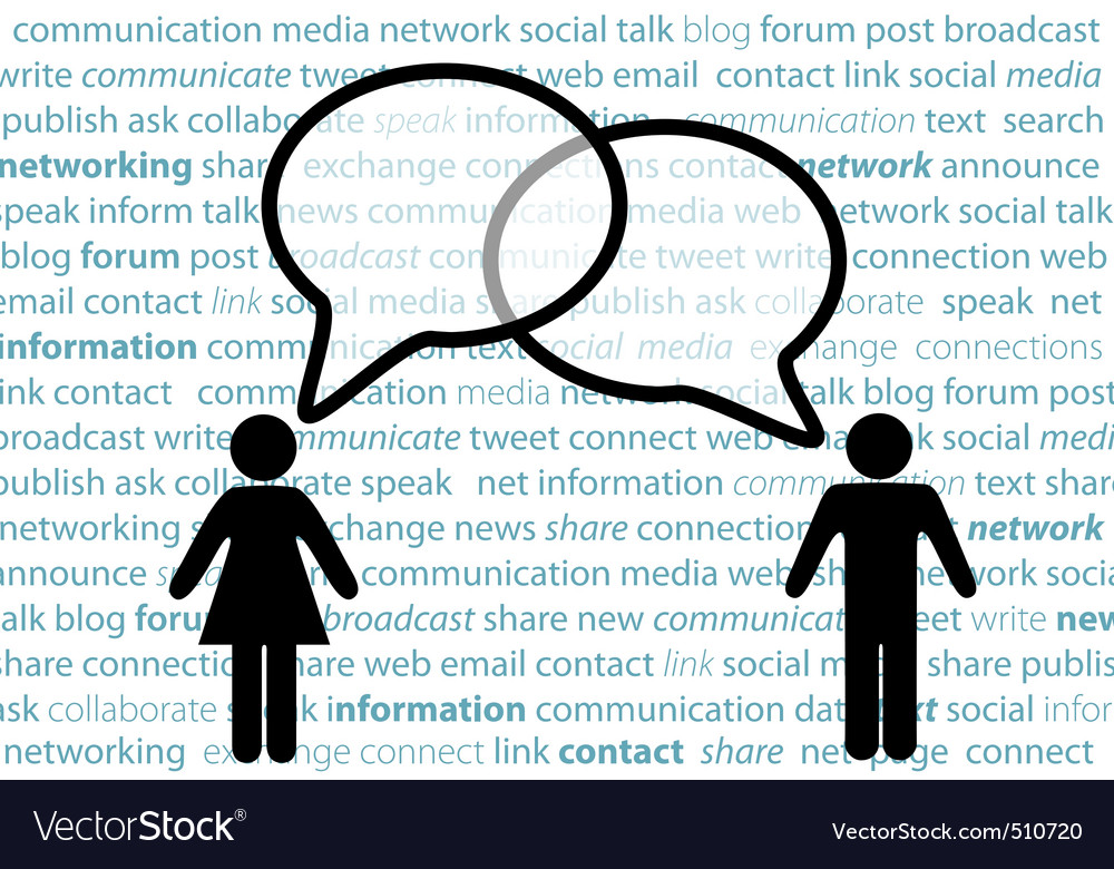 People symbol share social network talk bubbles vector | Price: 1 Credit (USD $1)