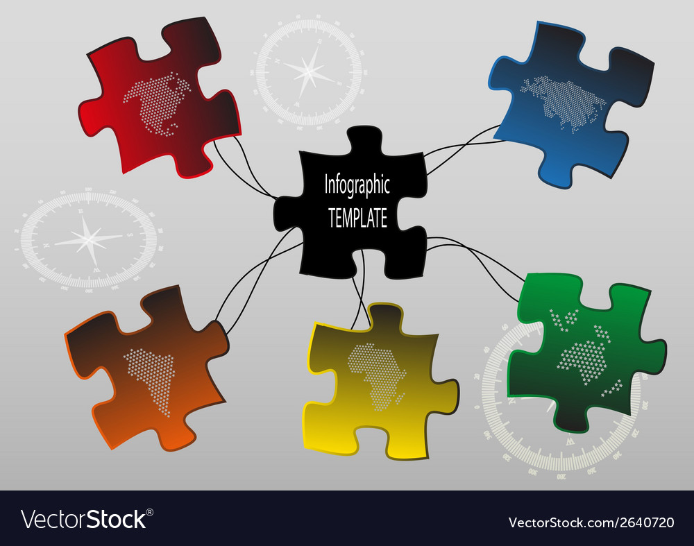 Puzzle map vector   Price: 1 Credit (USD $1)