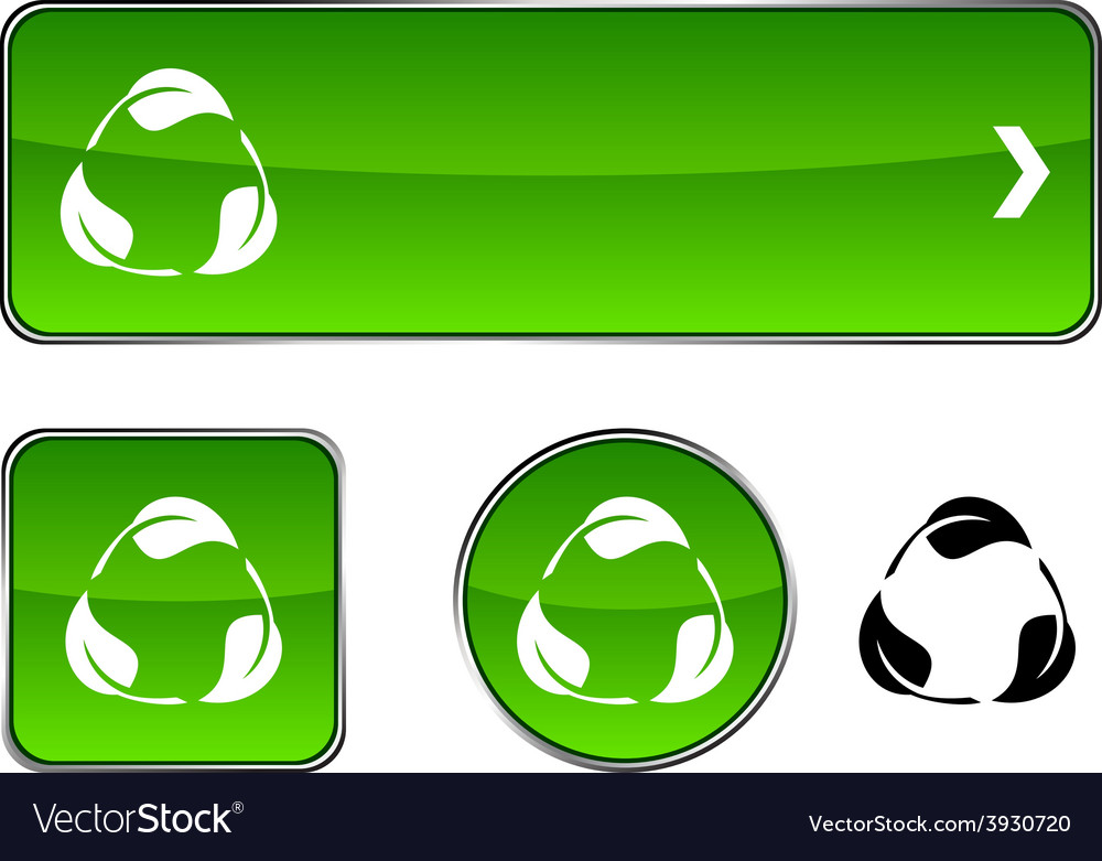 Recycle button set vector | Price: 1 Credit (USD $1)