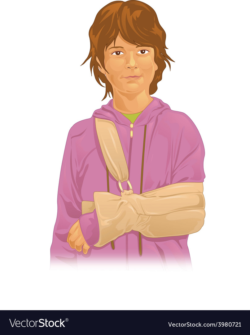 Arm in sling vector   Price: 1 Credit (USD $1)
