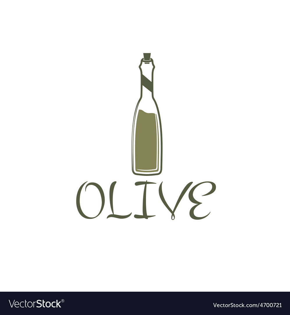 Bottle of olive oil design template vector | Price: 1 Credit (USD $1)