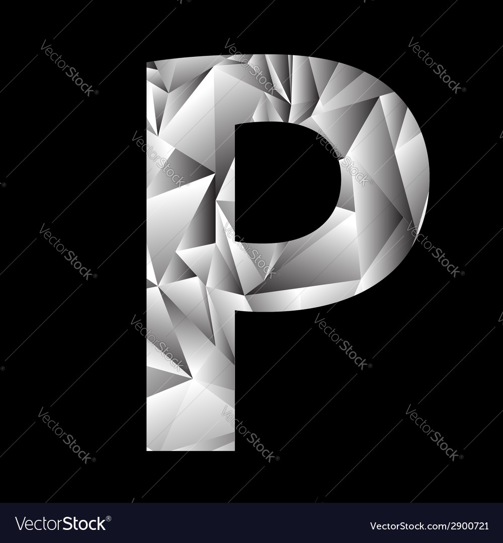Crystal letter p vector | Price: 1 Credit (USD $1)