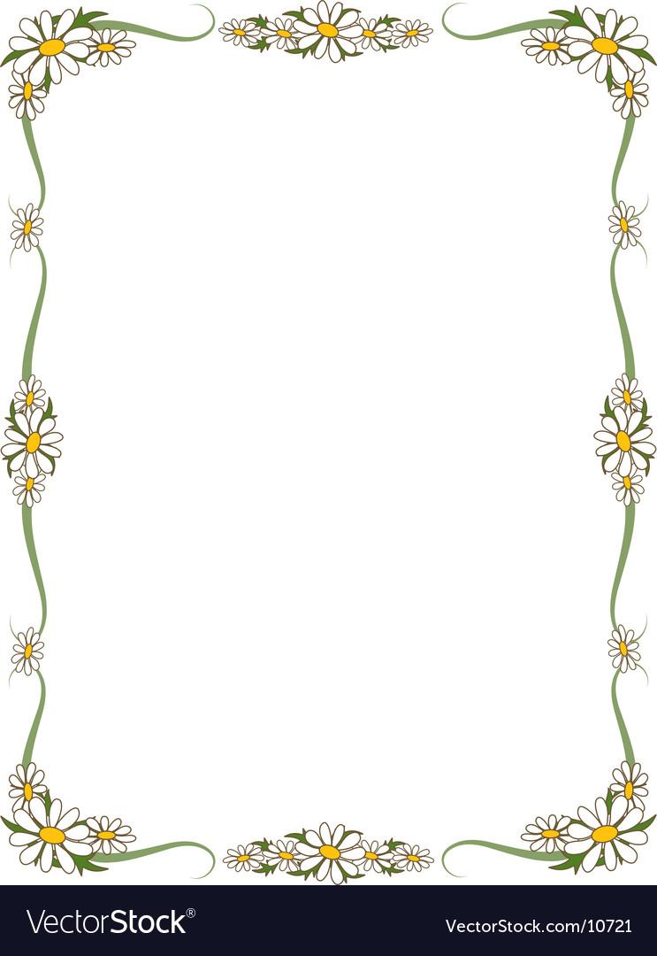 Daisy border vector | Price: 1 Credit (USD $1)