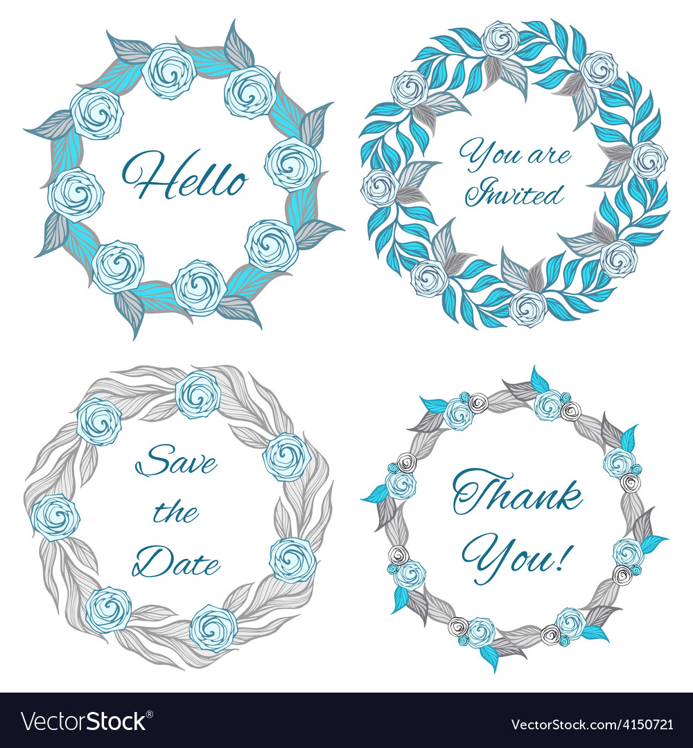 Decorative floral frames collection vector   Price: 1 Credit (USD $1)