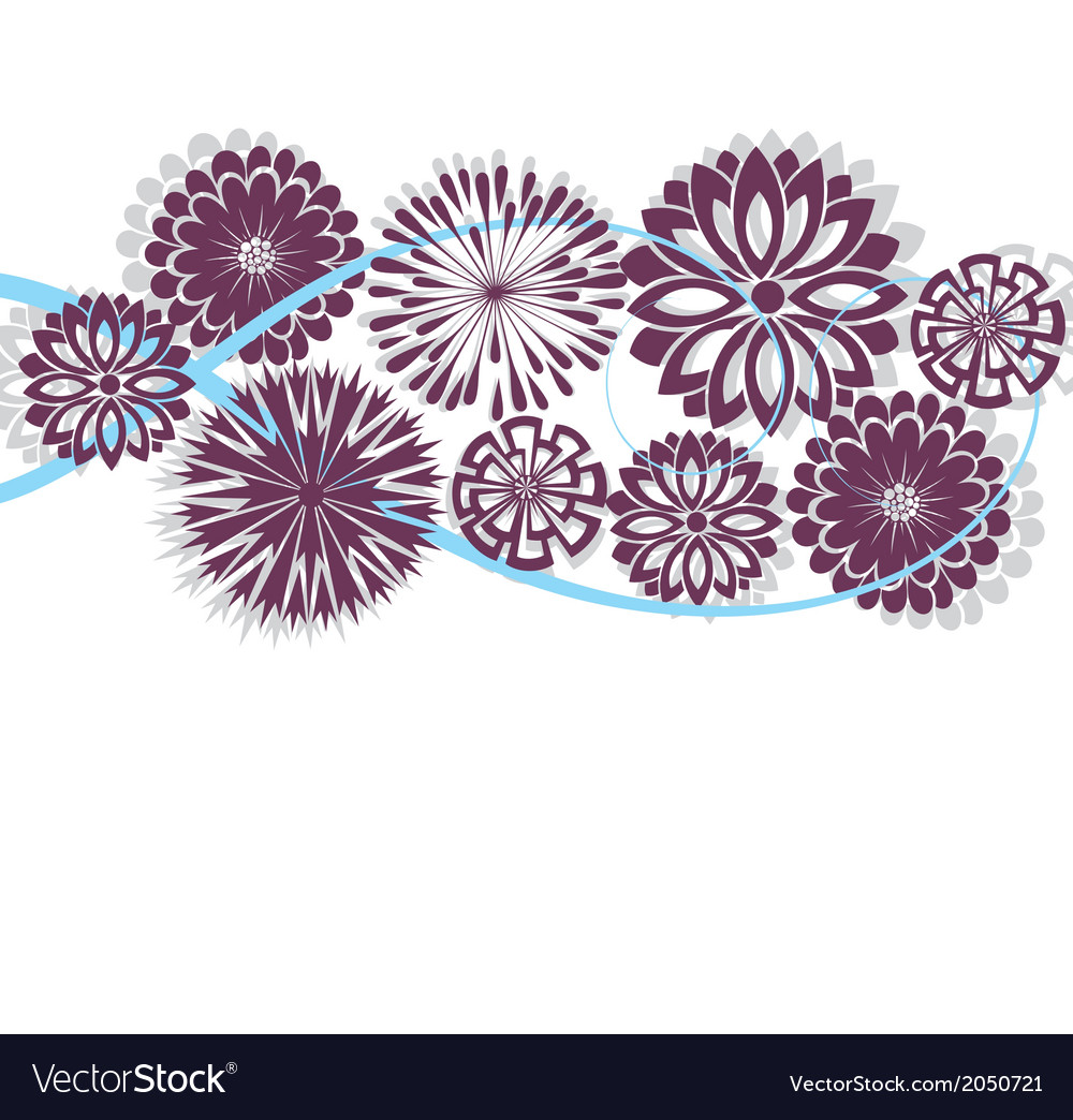 Flower spring or summer floral pattern vector | Price: 1 Credit (USD $1)